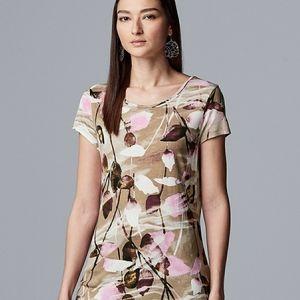 Simply Vera Vera Wang Short Sleeve Tee NWT